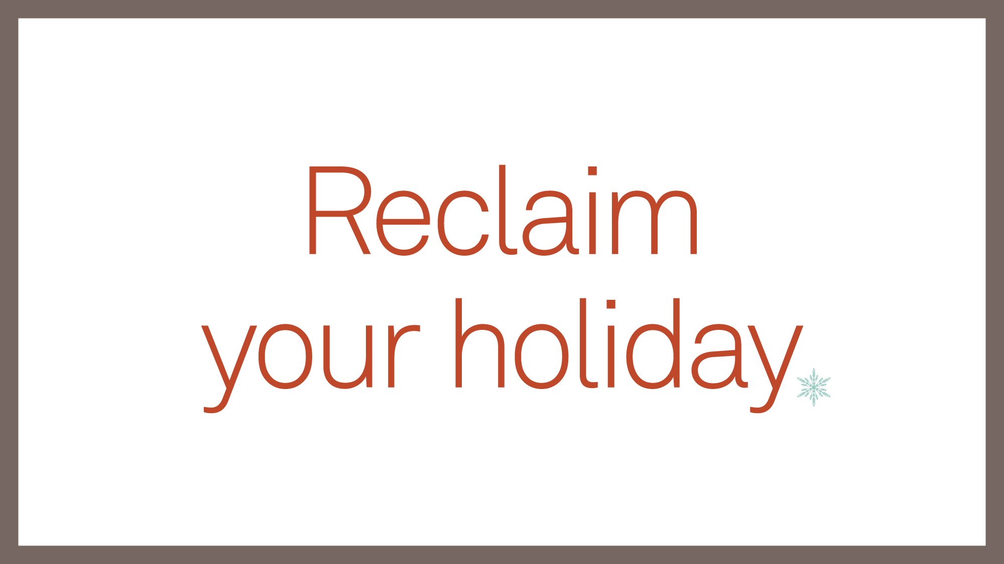 Executive Coach shares tips on reclaiming your holiday